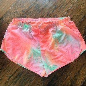 Nike Dri Fit Shorts in Salmon Pink/Blue Size XL